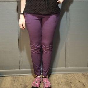 Purple Crop Pant